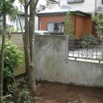 外構樹木移設後(庭側)