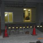 1階駐車場壁解体