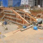 スロープ部分のコンクリート型枠
